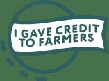 """I gave credits to farmers"" flag"