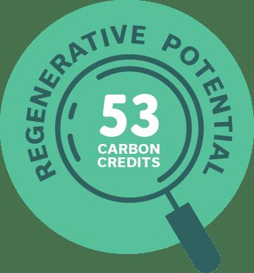 Regenerative Potential: 53 carbon credits